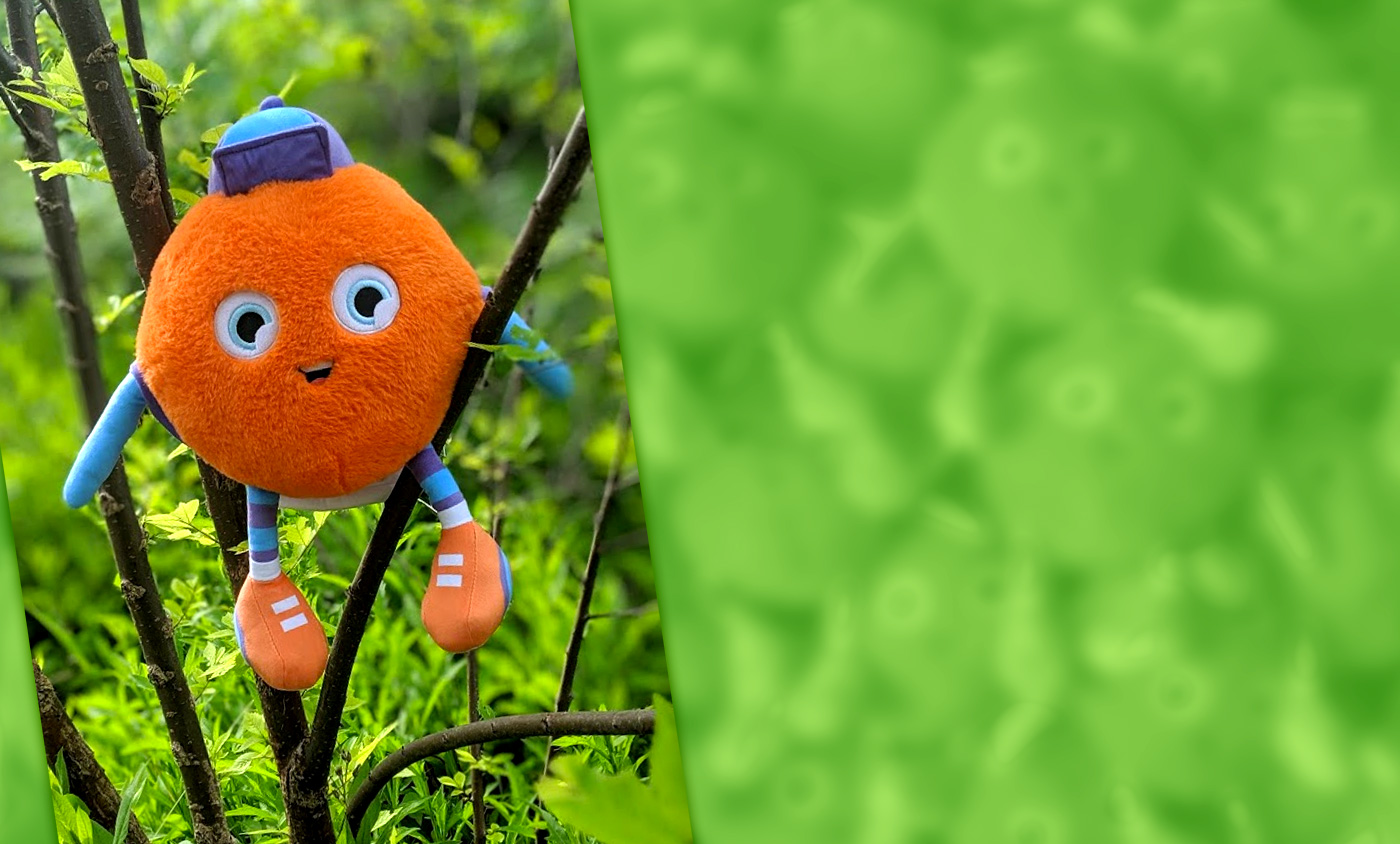 A super-huggable Watchum in a tree